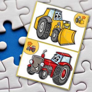 Stavebnice Bagr a traktor