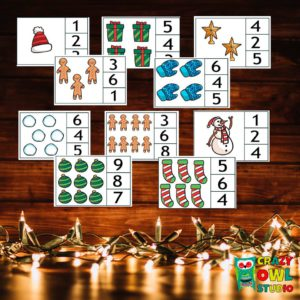 Vánoční kolíčkové počítání
