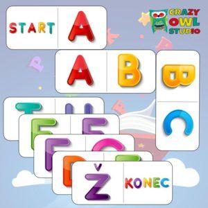 Písmenkové domino – řada