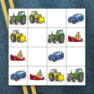 Sudoku dopravní prostředky