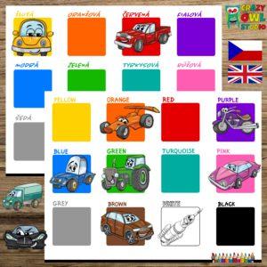 DOPRAVA – přiřazování barev