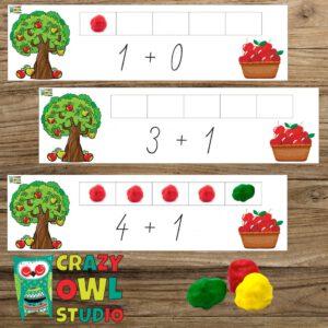 Jablíčkové sčítání s plastelínou