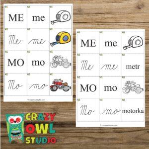 Hrátky se slabikami – začínající na písmeno M